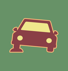Car parking sign cordovan icon and mellow vector