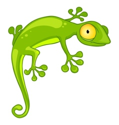 cartoon character lizard vector image