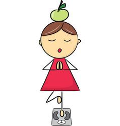 Cartoon girl in vector image
