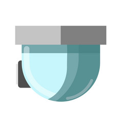 cctv glass technological device and attached vector image