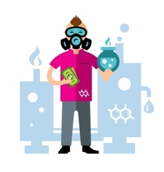 Chemical laboratory Flat style colorful vector