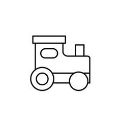 christmas locomotive outline icon element of new vector image