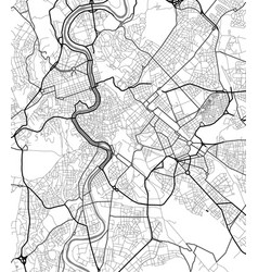 City map of rome in black and white vector