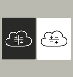Cloud computing - icon vector