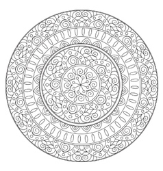 Coloring Outline Ethnic Mandala vector