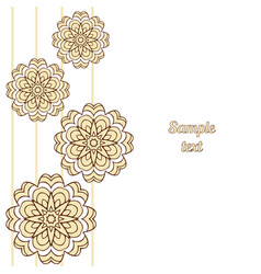 Cover oriental-style card mandala floral pattern vector