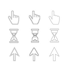 cursors icons set vector image