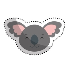 Cute koala character icon vector