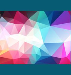 Dark pastel color polygonal background vector