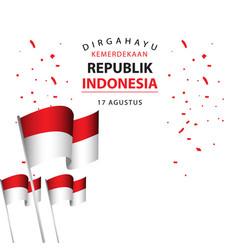 Dirgahayu kemerdekaan republik indonesia poster vector