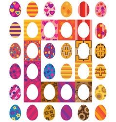 Easter colored eggs vector image