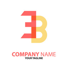 Ec be initial logo concept can be used vector