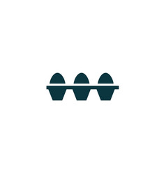 eggs set icon simple vector image