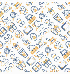 elderly people seamless pattern vector image