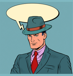 Elegant retro businessman stylish man in a suit vector