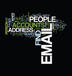 Find people email accounts text background word vector