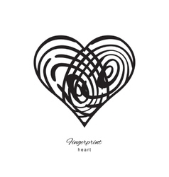 Fingerprint Heart Icon vector image