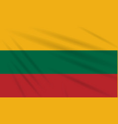 Flag lithuania swaying in wind realistic vector
