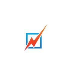 flash bolt electric sign logo vector image