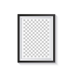 frame with shadow and isolated on white background vector image
