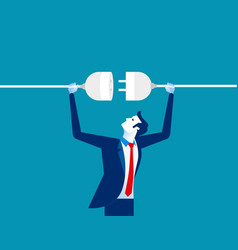 Getting plugged in concept business vector