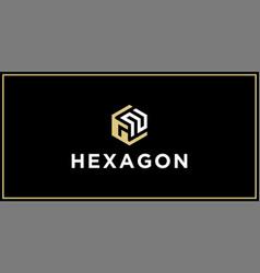 Gn hexagon logo design inspiration vector