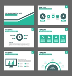 Green Black presentation templates Infographic vector