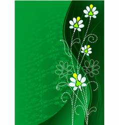 Green flower vector