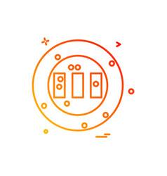 ground stadium cricket icon design vector image