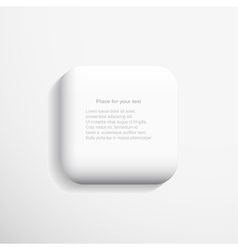 Isolated 3d sqaure vector
