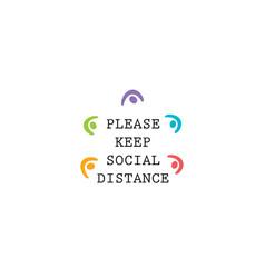 Keep social distance request icon coronavirus vector