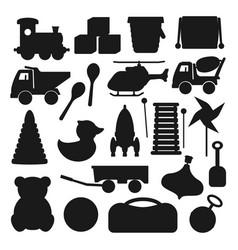 kids toy silhouettes vector image vector image