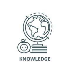 Knowledgebookappleglobus line icon vector