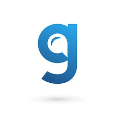 Letter G speech bubble logo icon design template vector image