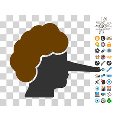 Lier icon with bonus vector