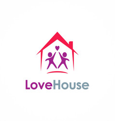 love house couple logo vector image