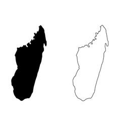 madagascar map vector image