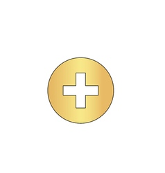Medical cross computer symbol vector image