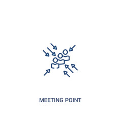 Meeting point concept 2 colored icon simple line vector