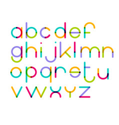 modern geometric circle based lowercase vector image