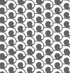 Monochrome seamless pattern with swirls vector