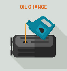 motor oil change vector image