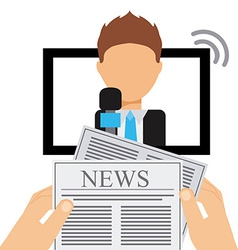 news reporter vector image