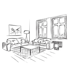 Outline sketch of a interior vector