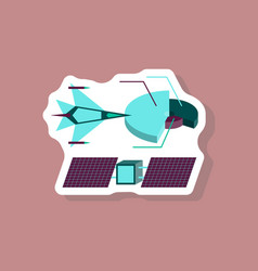 Paper sticker on stylish background military vector