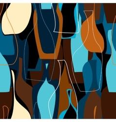 Pattern of bottles vector