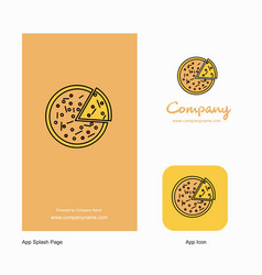 pizza company logo app icon and splash page vector image
