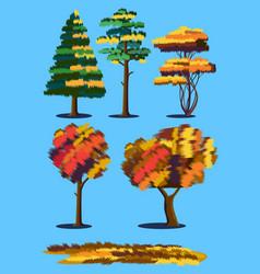 plants in autumn vector image
