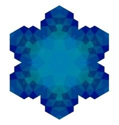Polygonal Blue Symbol vector image