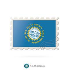Postage stamp with image south dakota vector